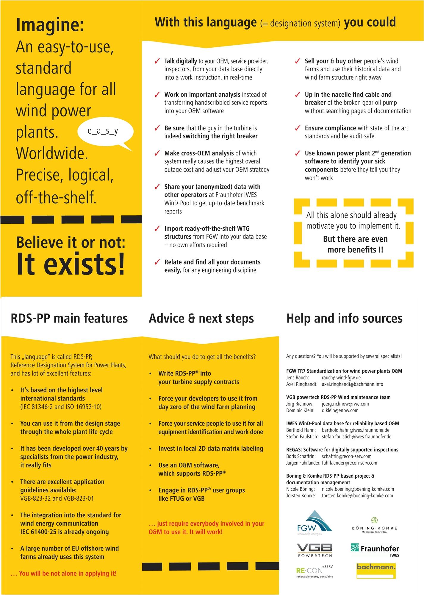 RDS-PP - eine einfache Standardsprache für alle Windparks. Weltweit.